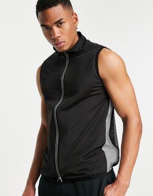 Жилет со светоотражающими вставками и сетчатой спиной Bolongaro Trevor Sport Barstow-Черный цвет