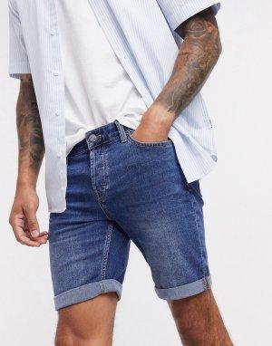 Темно-синие джинсовые шорты -Темно-синий Only & Sons