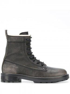 Ботинки на шнуровке Diesel. Цвет: черный