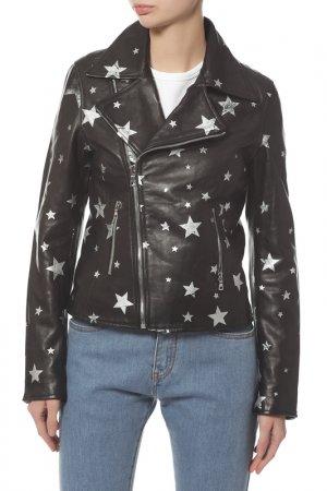Куртка кожаная RTA. Цвет: raven stars