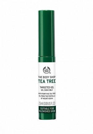 Гель для лица The Body Shop точечного нанесения Чайное дерево, 2,5 мл. Цвет: зеленый