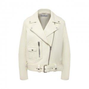 Кожаная куртка Acne Studios. Цвет: кремовый