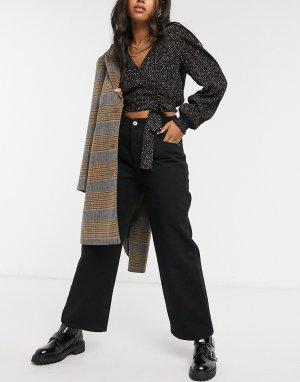 Черные широкие джинсы -Черный Cotton:On