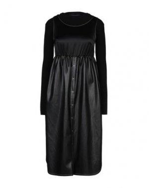 Платье длиной 3/4 HACHE. Цвет: черный