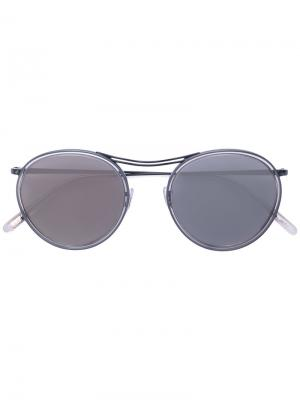 Солнцезащитные очки MP-3 в круглой оправе Oliver Peoples. Цвет: чёрный