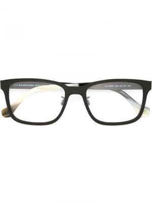 Оптические очки в прямоугольной оправе Balenciaga Eyewear. Цвет: чёрный