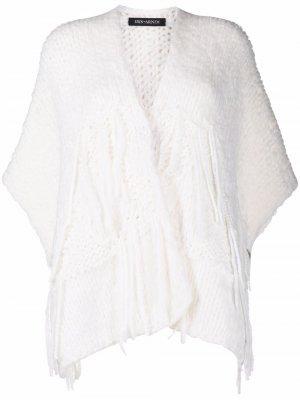 Кардиган крупной вязки Iris Von Arnim. Цвет: белый
