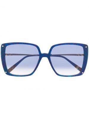 Солнцезащитные очки с абстрактным принтом MISSONI EYEWEAR. Цвет: синий