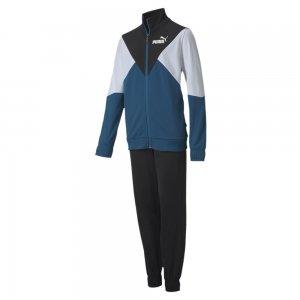 Детский спортивный костюм Poly Suit PUMA. Цвет: синий