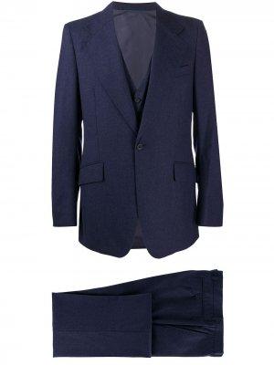 Костюм-тройка 1970-х годов с заостренными лацканами Givenchy Pre-Owned. Цвет: синий