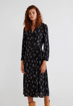 Платье Mango - VEGAS. Цвет: черный