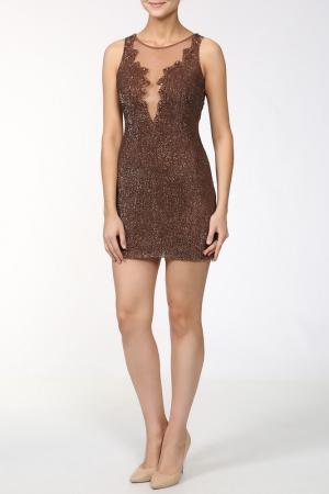 Платье Basix Black Label. Цвет: коричневый
