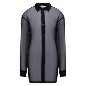 Шелковая рубашка Dries Van Noten. Цвет: чёрный