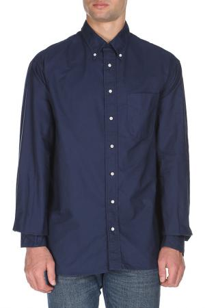 Рубашка GITMAN VINTAGE. Цвет: синий