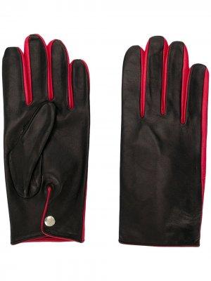 Перчатки с контрастной отделкой Ernest W. Baker. Цвет: черный