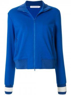 Куртка-бомбер узкого кроя GOODIOUS. Цвет: синий