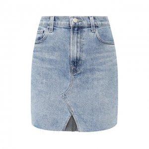 Джинсовая юбка J Brand. Цвет: синий