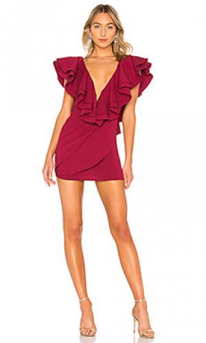 Платье jackson Michael Costello. Цвет: красный