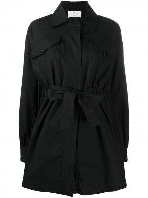 Платье-рубашка с завязками Ba&Sh. Цвет: черный