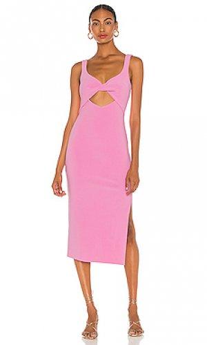 Платье миди joelle BEC&BRIDGE. Цвет: розовый