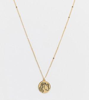 Золотистое ожерелье с зодиакальной подвеской со знаком Водолея и камнем-оберегом -Золотистый Kate Spade