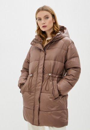 Куртка утепленная Marcella. Цвет: коричневый