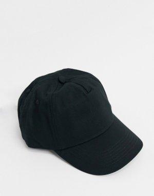 Черная бейсболка -Черный ASOS DESIGN