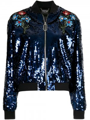 Куртка-бомбер с пайетками Markus Lupfer. Цвет: синий