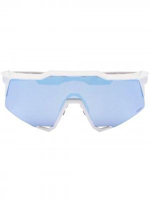 100% SPEEDCRAFT HIPER MLTI SUNG WHT BLU Eyewear. Цвет: белый