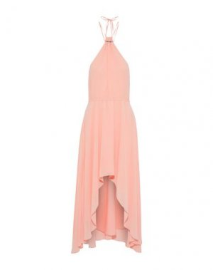 Короткое платье HAUTE HIPPIE. Цвет: светло-розовый