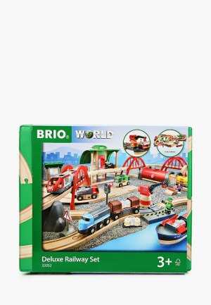 Конструктор Brio Железная дорога, 87 элементов. Цвет: разноцветный