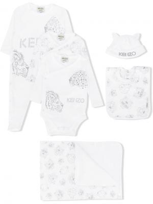 Подарочный набор из предметов с изображением животных Kenzo Kids. Цвет: белый