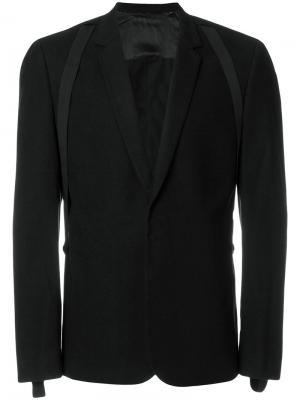 Пиджак с лямками Helmut Lang. Цвет: чёрный
