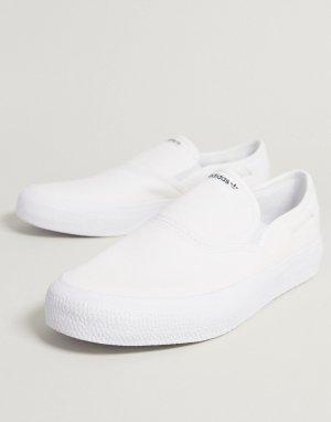 Белые кеды-слипоны 3mc-Белый adidas Originals