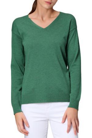 Пуловер MANODE. Цвет: зеленый