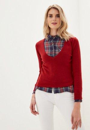 Пуловер Colletto Bianco. Цвет: красный
