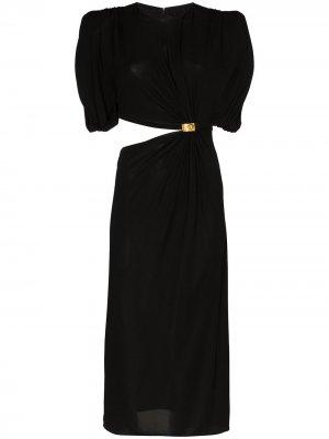 Платье миди с вырезами Versace. Цвет: черный