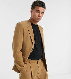 Бежевый пиджак -Коричневый цвет Noak