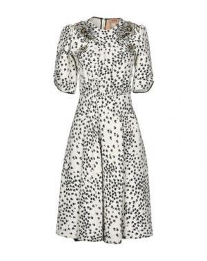 Короткое платье GILMAR. Цвет: белый