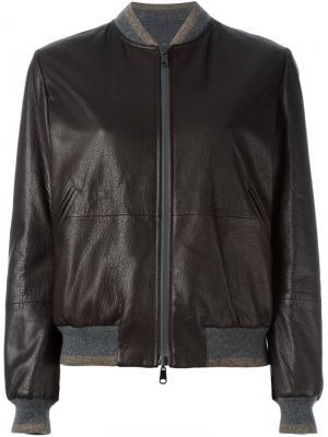 Classic bomber jacket Brunello Cucinelli. Цвет: коричневый