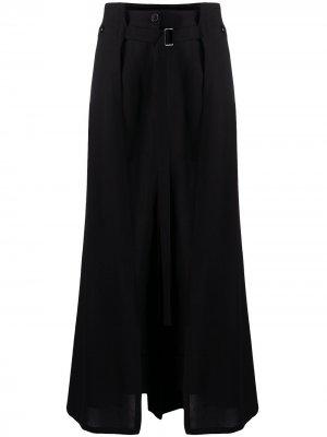 Многослойная юбка-брюки Ann Demeulemeester. Цвет: черный
