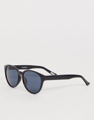 Солнцезащитные очки в стиле ретро черной оправе с зелеными затемненными поляризованными стеклами Levis-Черный Levi's