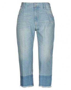 Джинсовые брюки-капри ISABEL MARANT ÉTOILE. Цвет: синий