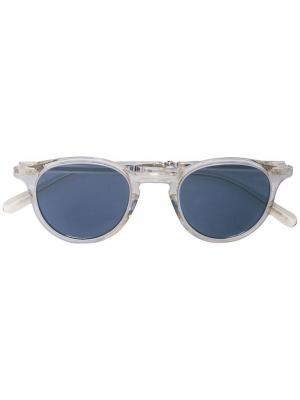 Солнцезащитные очки в круглой оправе Garrett Leight. Цвет: белый