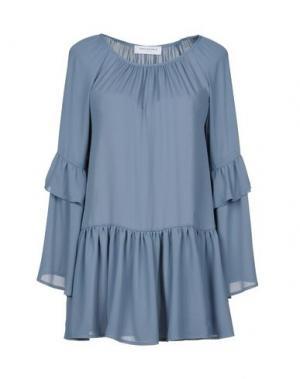 Блузка ANNA RACHELE JEANS COLLECTION. Цвет: грифельно-синий