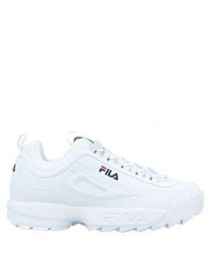 Кеды и кроссовки FILA. Цвет: белый