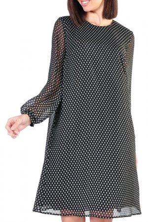 Платье Forus. Цвет: черный, молочный