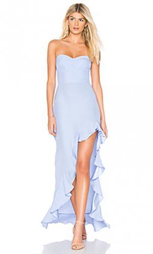 Вечернее платье amalia Amanda Uprichard. Цвет: нежно-голубой