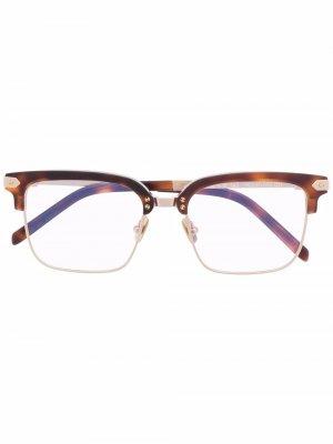 Square half-rim sunglasses Hublot Eyewear. Цвет: золотистый