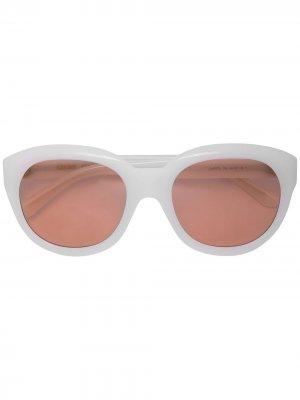 Солнцезащитные очки в круглой оправе Celine Eyewear. Цвет: белый